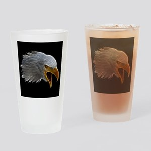 American Bald Eagle Head Drinking Glass