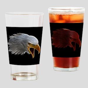 American Bald Eagle Head Drinking Glass