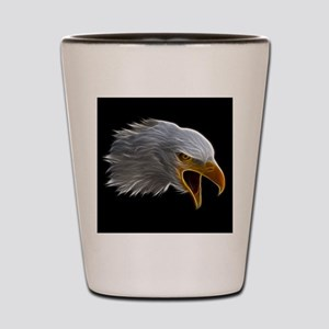 American Bald Eagle Head Shot Glass