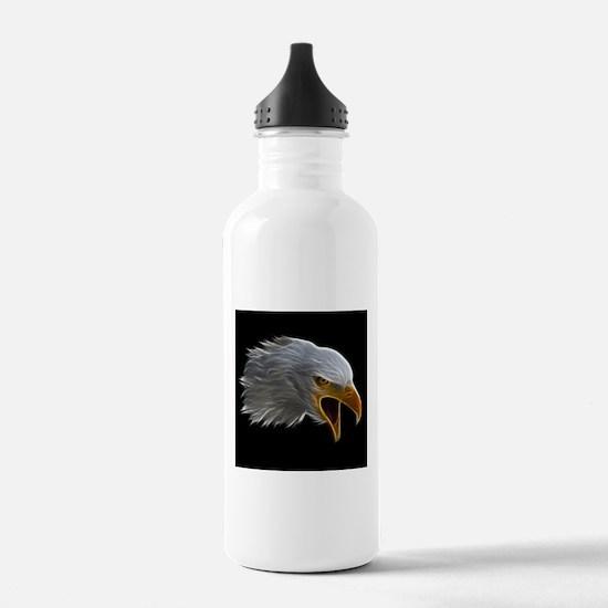American Bald Eagle Head Water Bottle