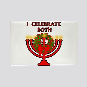 Christmas AND Hanukkah Rectangle Magnet