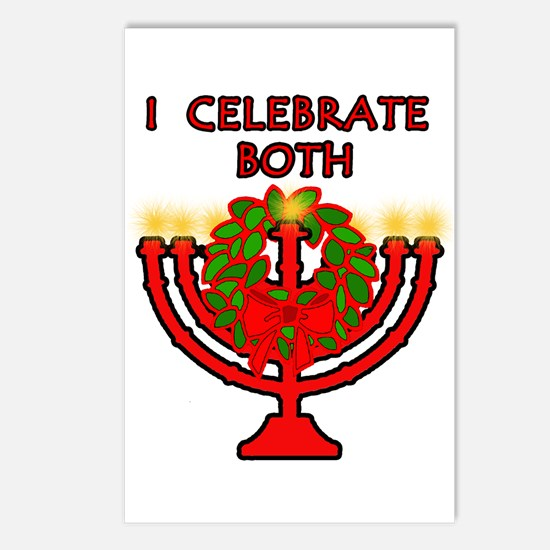 Christmas AND Hanukkah Postcards (Package of 8)