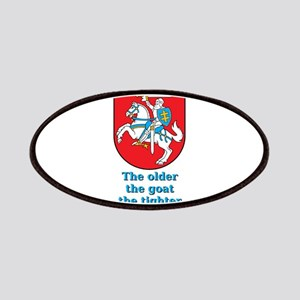 The Older The Goat - Lithuanian Proverb Patch