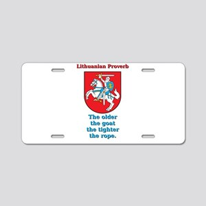 The Older The Goat - Lithuanian Proverb Aluminum L