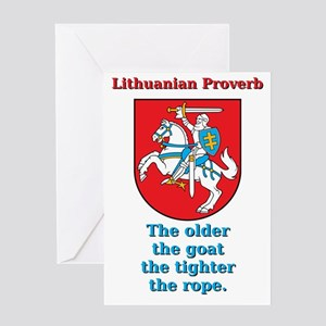 The Older The Goat - Lithuanian Proverb Greeting C