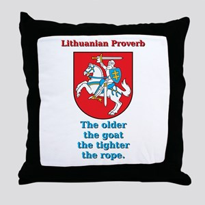 The Older The Goat - Lithuanian Proverb Throw Pill