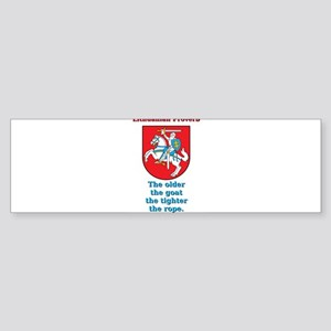 The Older The Goat - Lithuanian Proverb Sticker (B