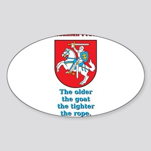The Older The Goat - Lithuanian Proverb Sticker (O
