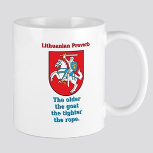 The Older The Goat - Lithuanian Proverb 11 oz Cera