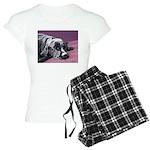 Black Labrador Dog Sleeping Pajamas White