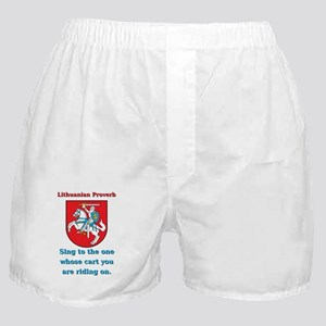 Sing To The One - Lithuanian Proverb Boxer Shorts
