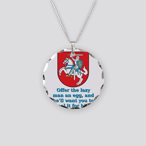 Offer The Lazy Man - Lithuanian Proverb Necklace C