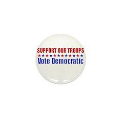 Support our Troops -- Vote De Mini Button