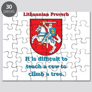 It Is Diffucult To Teach - Lithuanian Proverb Puzz
