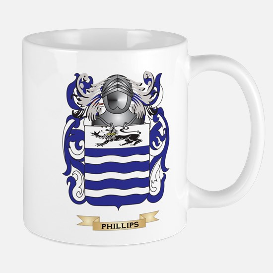 Phillips Coat of Arms (Family Crest) Mugs
