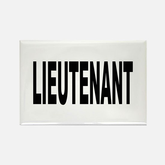 Lieutenant Rectangle Magnet (10 pack)