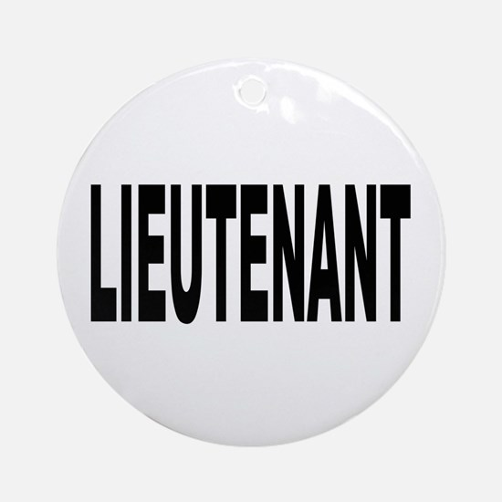 Lieutenant Ornament (Round)