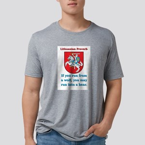 If You Run From A Wolf - Lithuanian Proverb Mens T