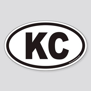 Kansas City KC Euro Oval Sticker