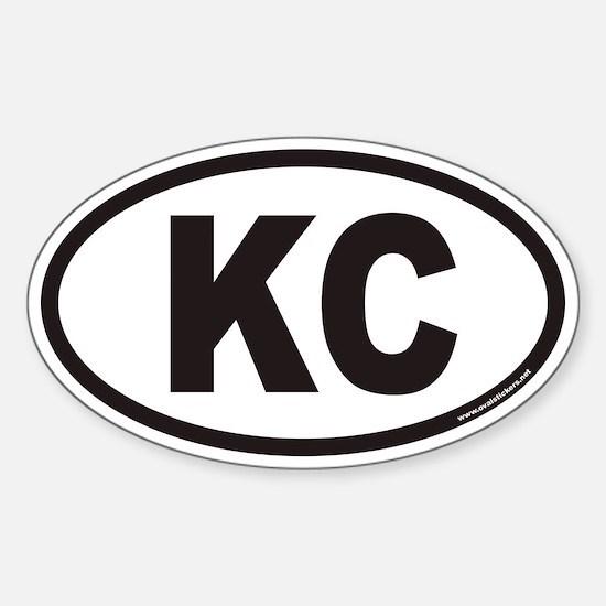 Kansas City KC Euro Oval Decal