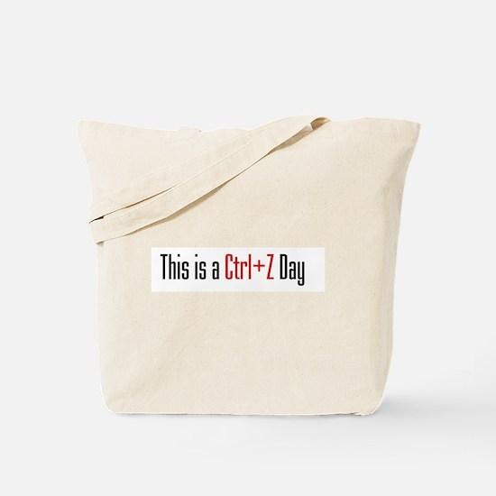 Ctrl + Z Day Tote Bag