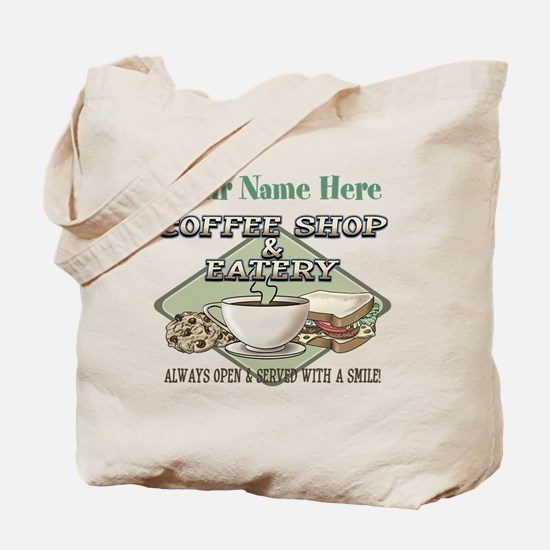 Personalizeable Coffee Shop Tote Bag