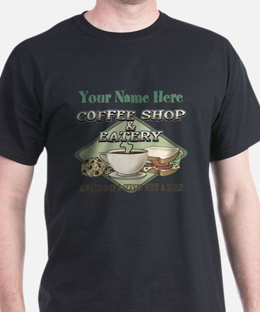Personalizeable Coffee Shop T-Shirt