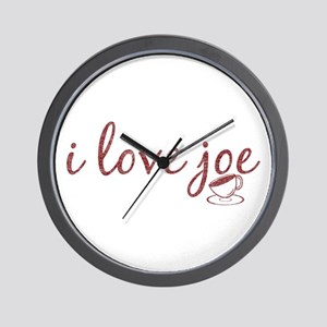 I Love Joe Wall Clock