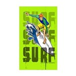 Surf Rectangle Sticker
