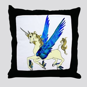 Flying Unicorn Filly Throw Pillow