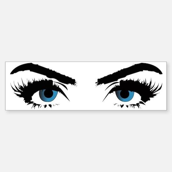blue eye stare Sticker (Bumper)