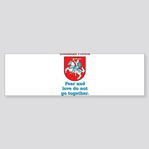 Fear And Love - Lithuanian Proverb Sticker (Bumper
