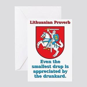 Even The Smallest Drop - Lithuanian Proverb Greeti