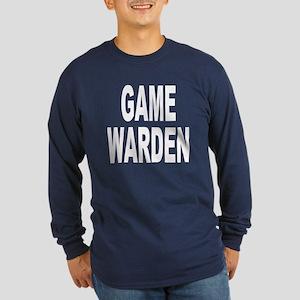 Game Warden (Front) Long Sleeve Dark T-Shirt