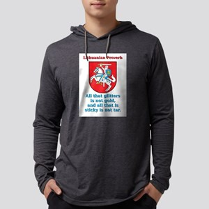 All That Glitters - Lithuanian Proverb Mens Hooded
