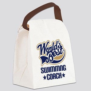 Swimming Coach (Worlds Best) Canvas Lunch Bag