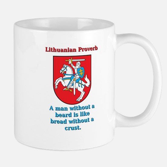 A Man Without A Beard - Lithuanian Proverb Mug