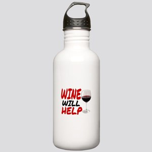 WINE WILL HELP Stainless Water Bottle 1.0L