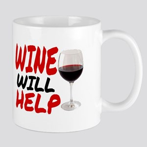 WINE WILL HELP Mugs