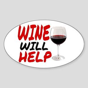 WINE WILL HELP Sticker