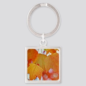 Modern Fall Leaves Keychains