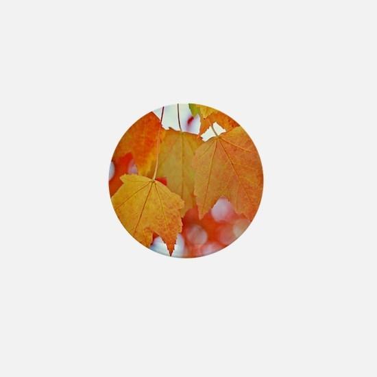 Modern Fall Leaves Mini Button