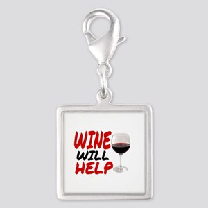 WINE WILL HELP Charms