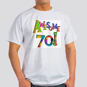 Awesome 70 Birthday Light T-Shirt