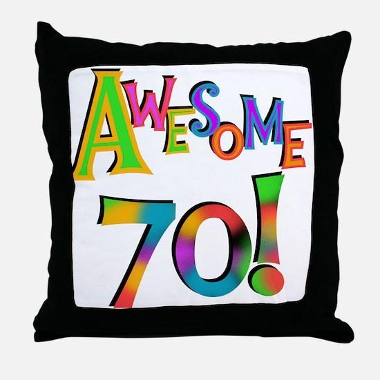 Awesome 70 Birthday Throw Pillow