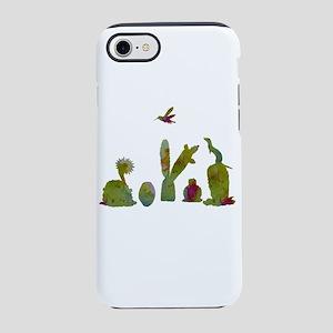 Cacti, ferret, hummingbird iPhone 7 Tough Case