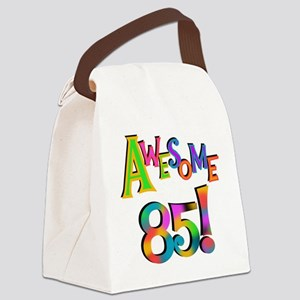 Awesome 85 Birthday Canvas Lunch Bag