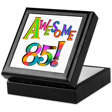 Awesome 85 Birthday Keepsake Box
