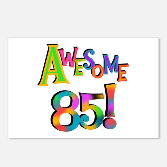 Awesome 85 Birthday Postcards (Package of 8)