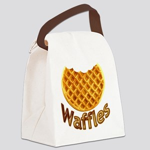 Waffles Canvas Lunch Bag